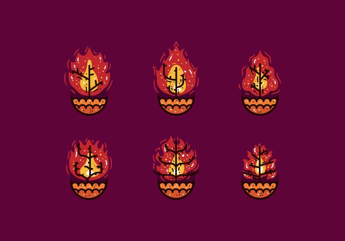Free Burning Bush Vector
