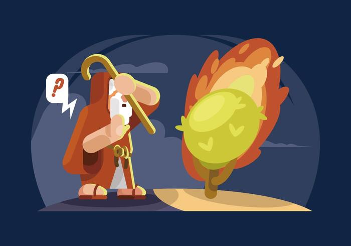 Brennende Bush-Illustration