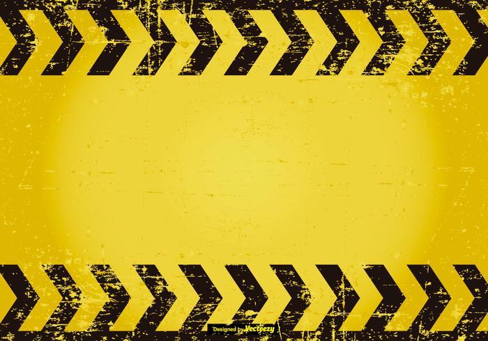 Grunge Caution Background vector