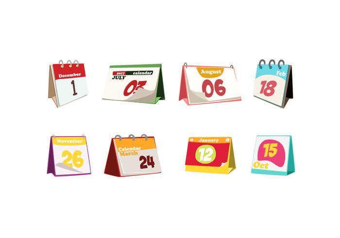 Diversão Desktop Calendar Free Vector