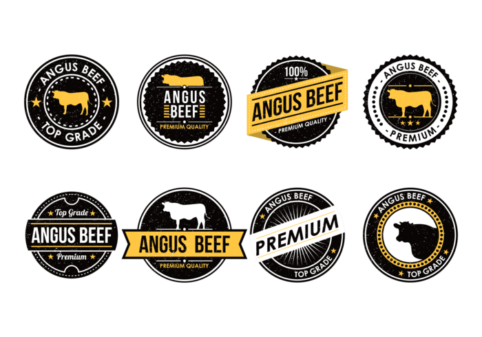 Vecteur Angus Beef Labels
