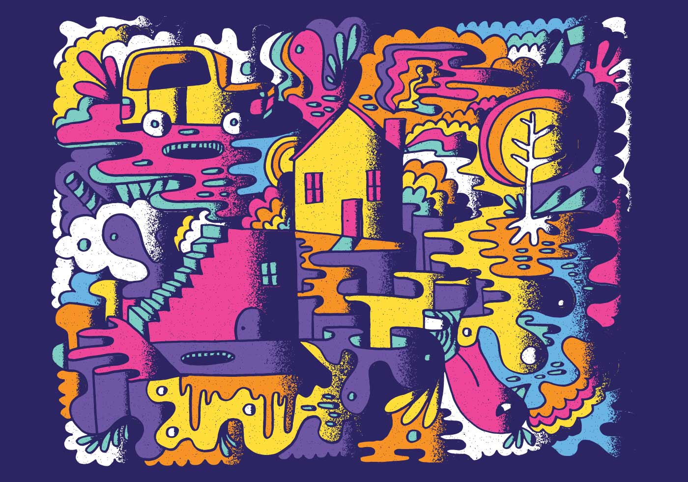 Colorful Abstract Doodle Vector - Download Free Vectors ...
