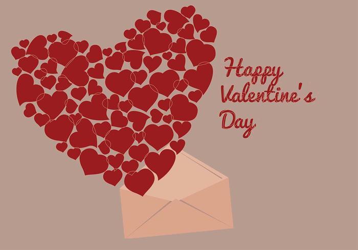 Heart Filled San Valentin Vector
