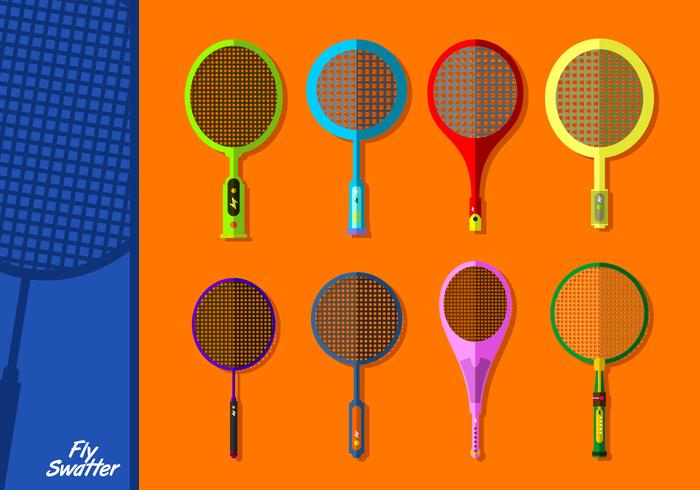 Electric Fly Swatter Free Vector