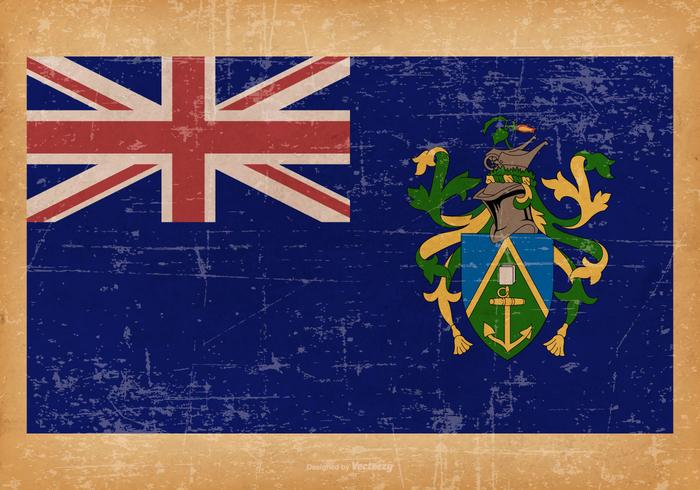 Grunge Flag of Pitcairn Islands