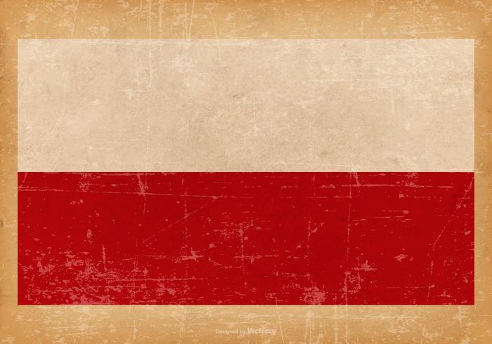 Grunge Flag of Poland