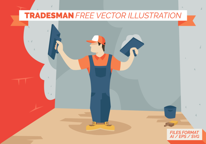 Tradesman Free Vector Illustration