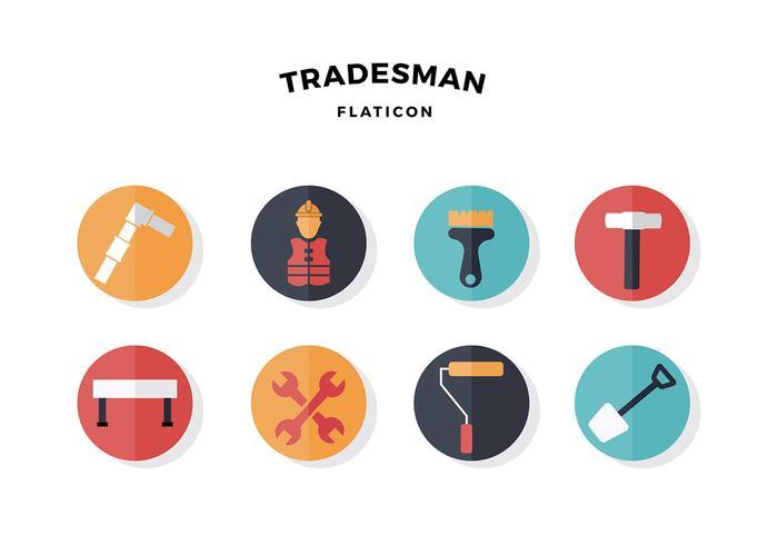 Tradesman Icon Free Vector