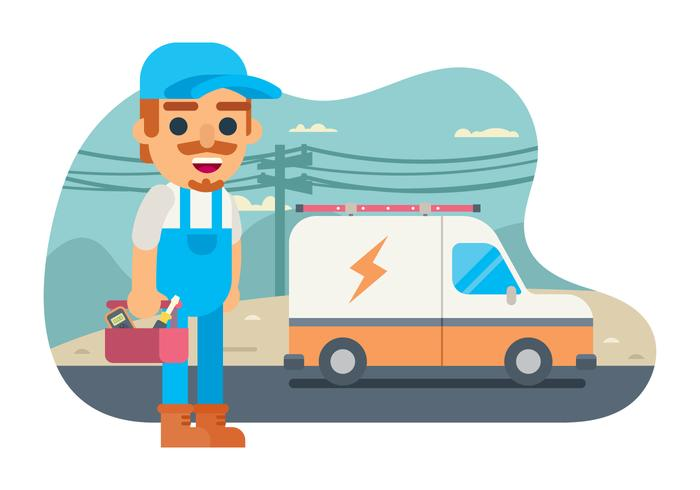 Free Electrician Illustration