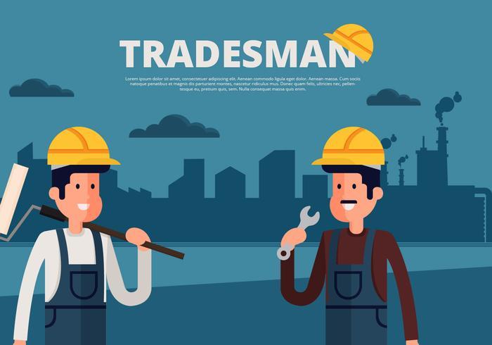 Tradesman Background Vector Illustration