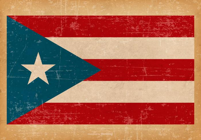 Grunge Flag of Puerto Rico