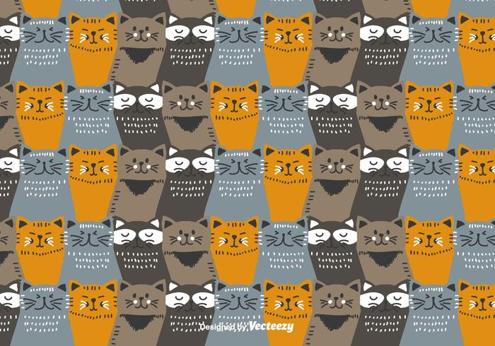 Colorful Cats Pattern