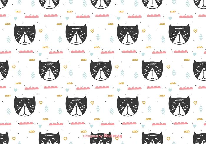Doodle Cats Pattern