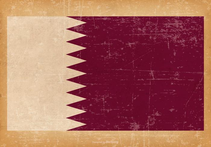 Bandiera del grunge del Qatar vettore