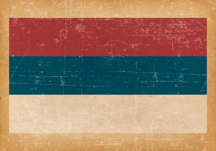 Grunge Flag of Republika Srpska