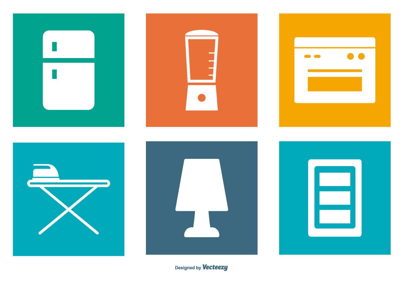 Home elements icon collection download free vector art for Home elements