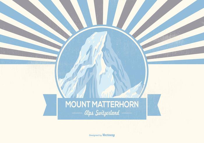Mount Matterhorn Retro Illustration