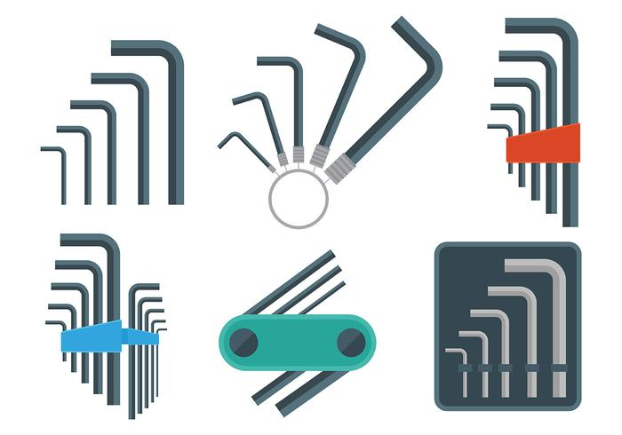 Allen Key Vector Icons