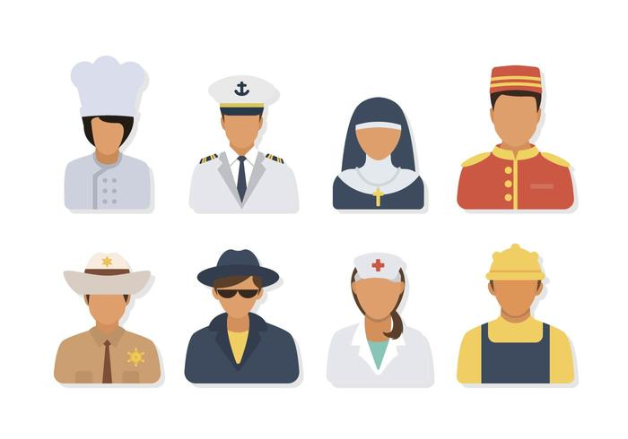 flat profession vectors download free vector art  stock graphics   images vector face drawings vector facebook game