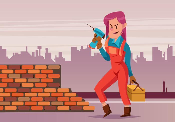 Vrouwelijke Tradesman