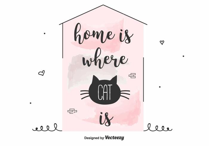 Cat Inspirational Quote Vector