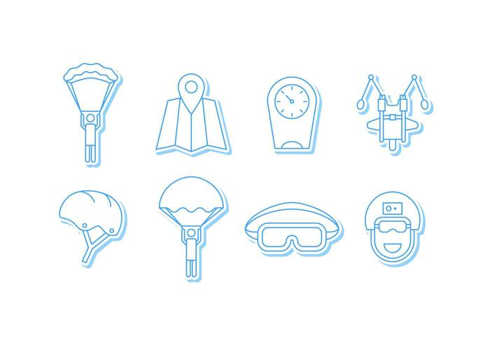 Free Outstanding Skydiving Vectors