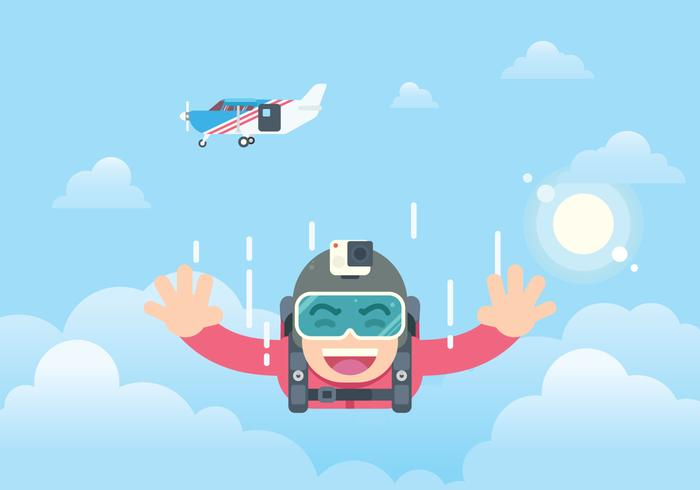 Free Skydiving Illustration