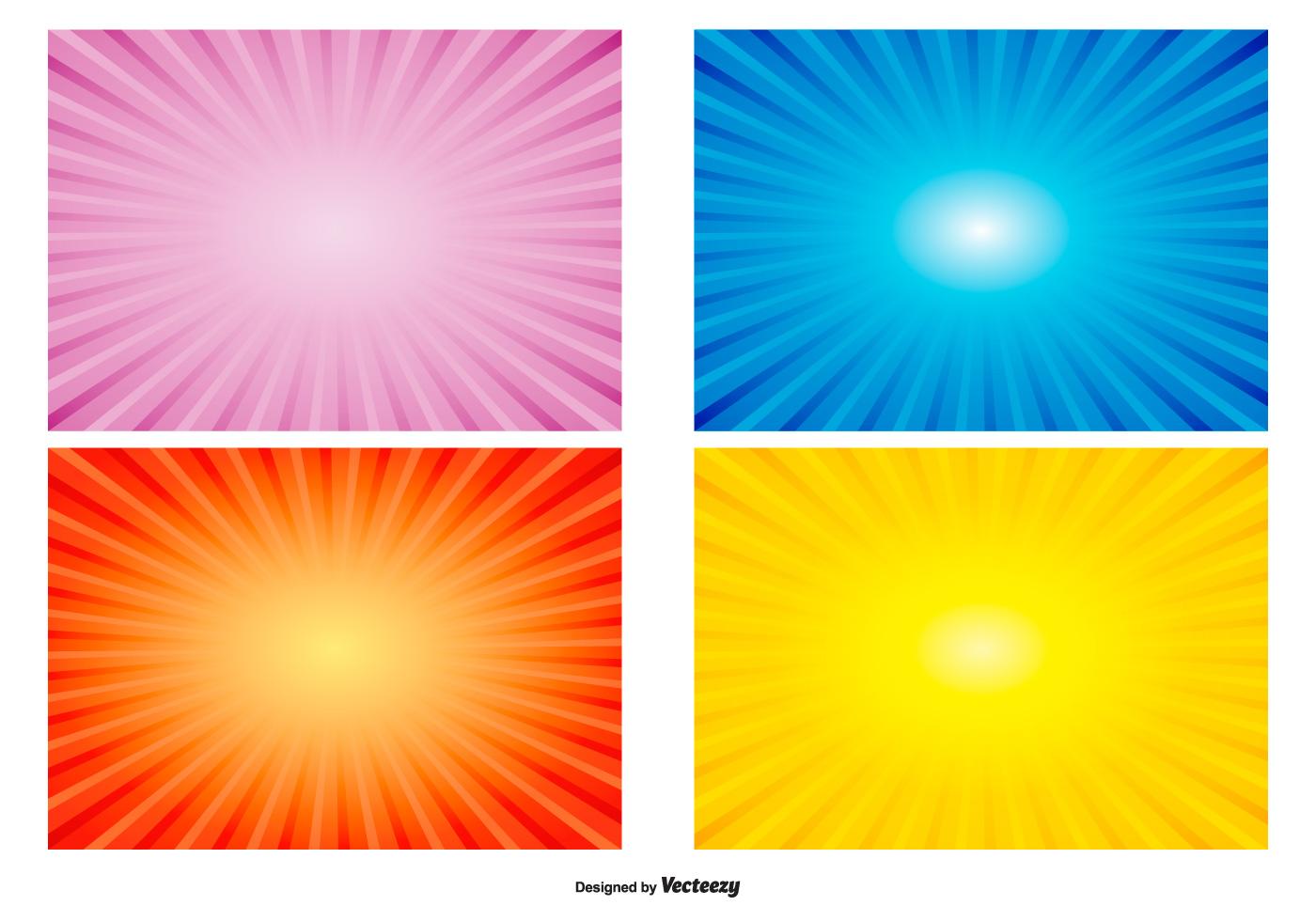 colorful radiant sunburst backgrounds