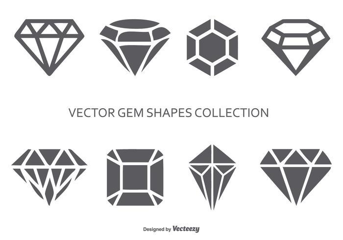 Colección Vector Gem formas