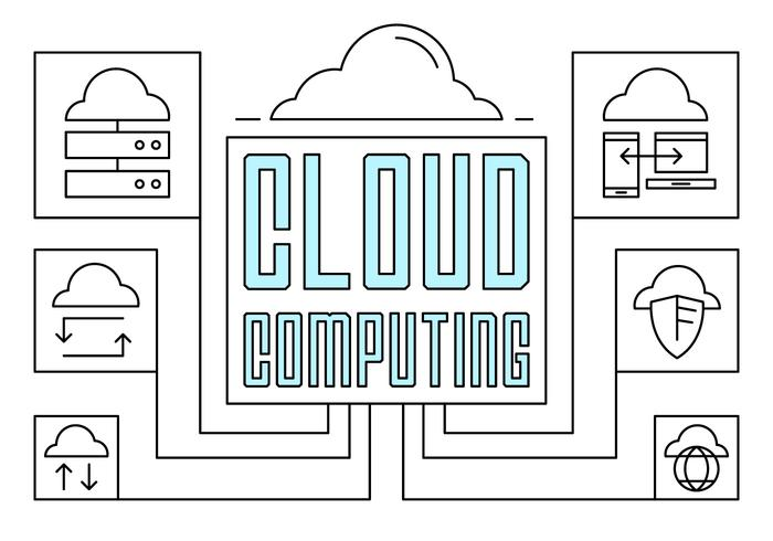 Linear Cloud Computing Illustration