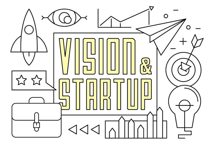 Free Linear Startup Vector Elements