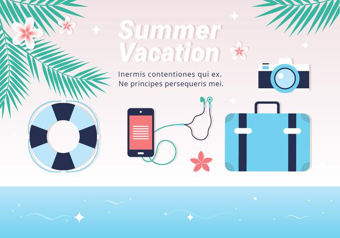 Free Hello Summer Vector Background