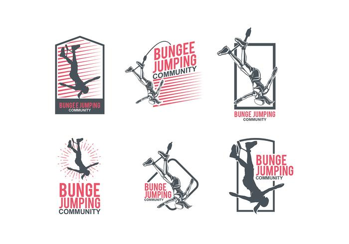 Bungee jumping logo mall