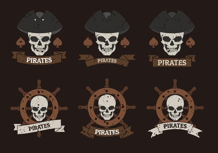 pirate banner logo template free vector download free vector art