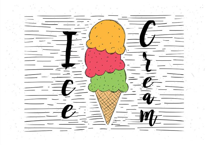 Free Hand Drawn Vector Helado