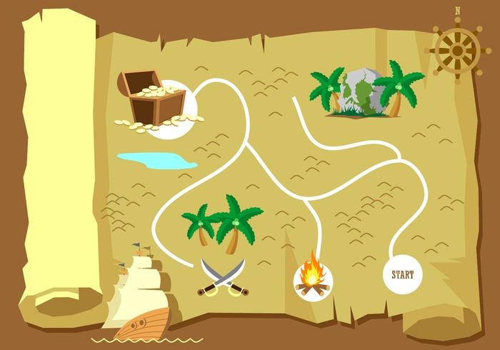 Treasure Map Free Vector
