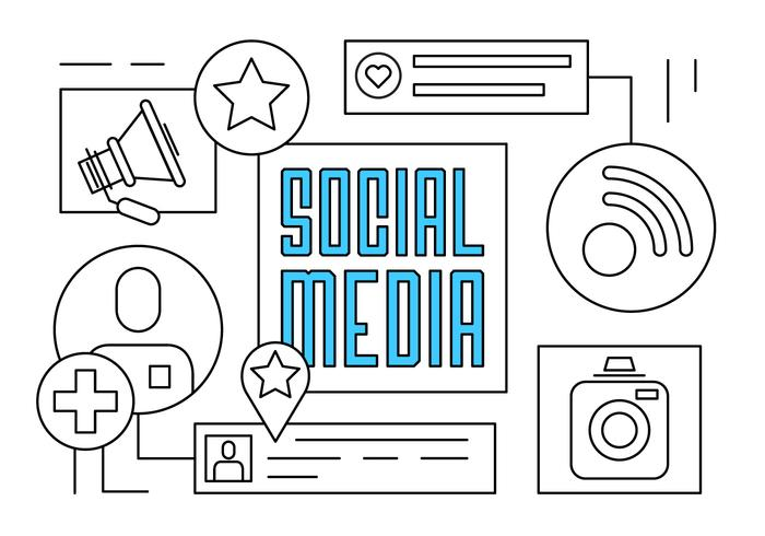 Free Linear Social Media Vector Illustration