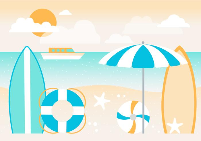 Free Summer Holiday Vector Background