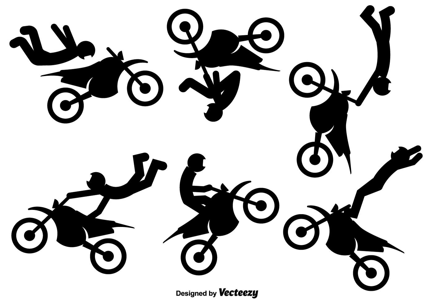 vector iconos del jinete de la motocicleta