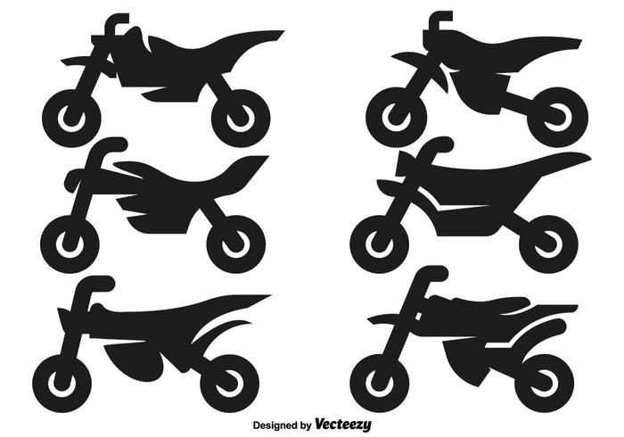 Vector Motocross Motorcycle Icons