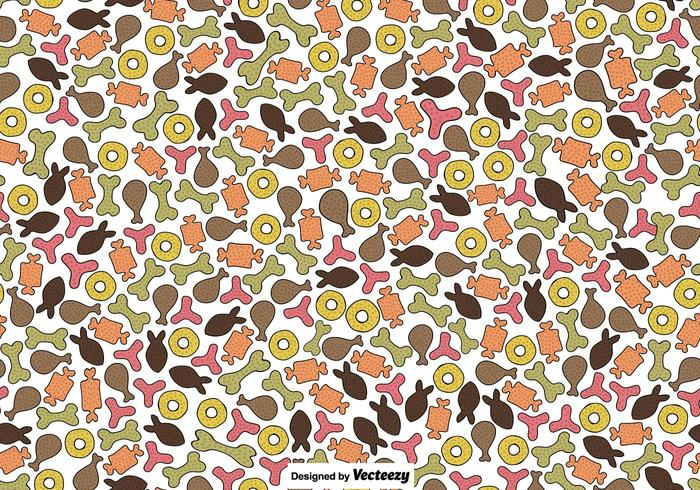 Vector seamless pattern of dog biscuits