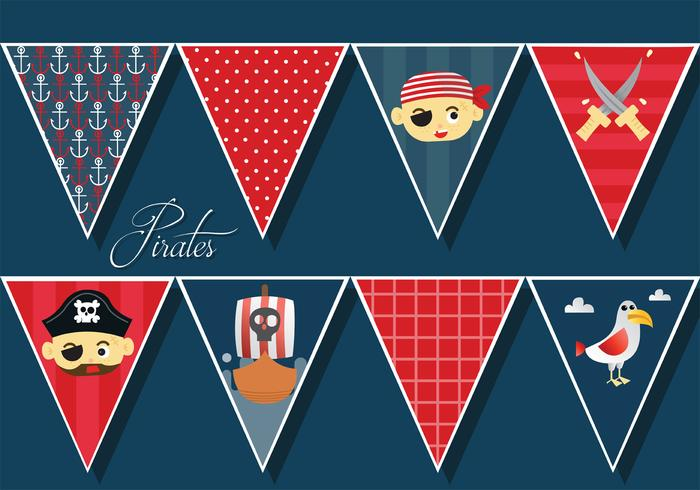 Piratas Banner Vector Pack