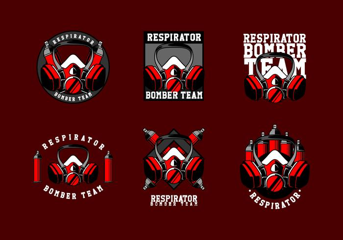 Respirator Logo Freier Vektor