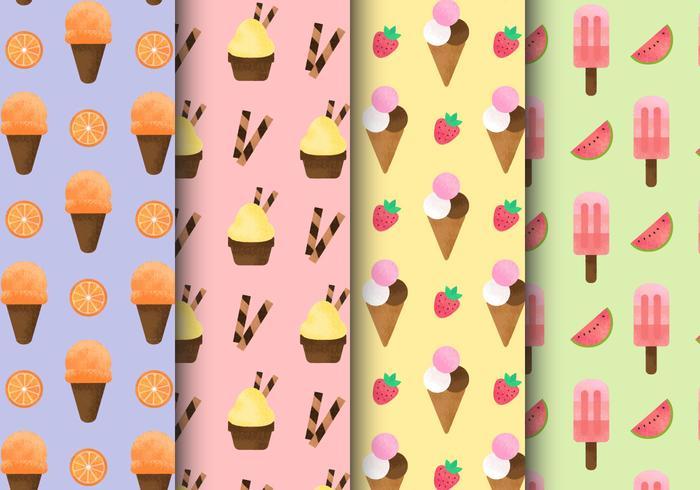 Free Grainy Ice Cream Patterns