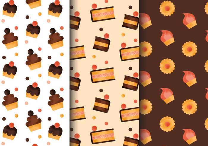 Free Cute Bakery Patterns vector