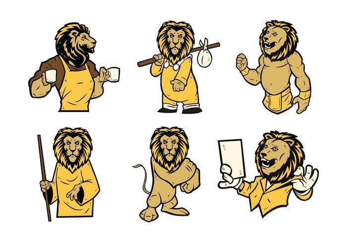 Free Lion Mascot Vector 01