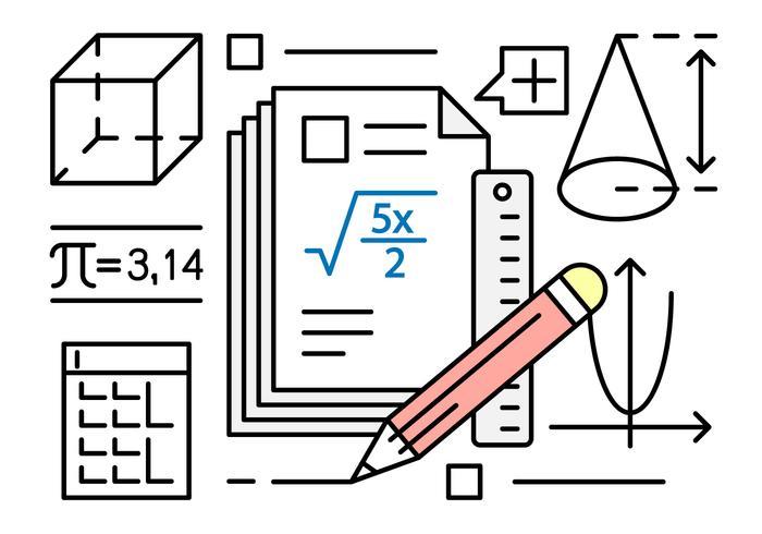 Ilustración vectorial libre sobre matemáticas