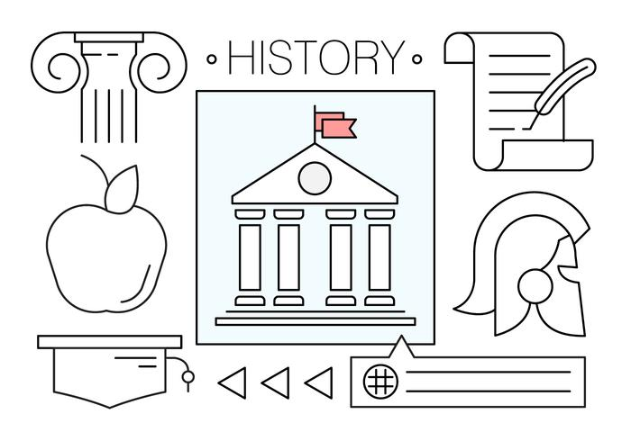 Free Vector Icons About History