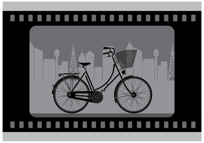 Free Silent Bicycle Film Vector