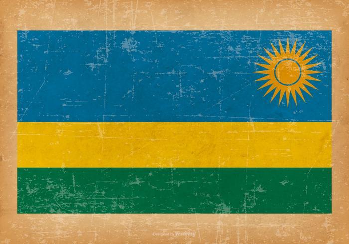 Bandiera del Ruanda del grunge vettore